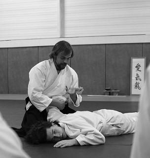 pratiquant Aïkiryu dojo tatamis